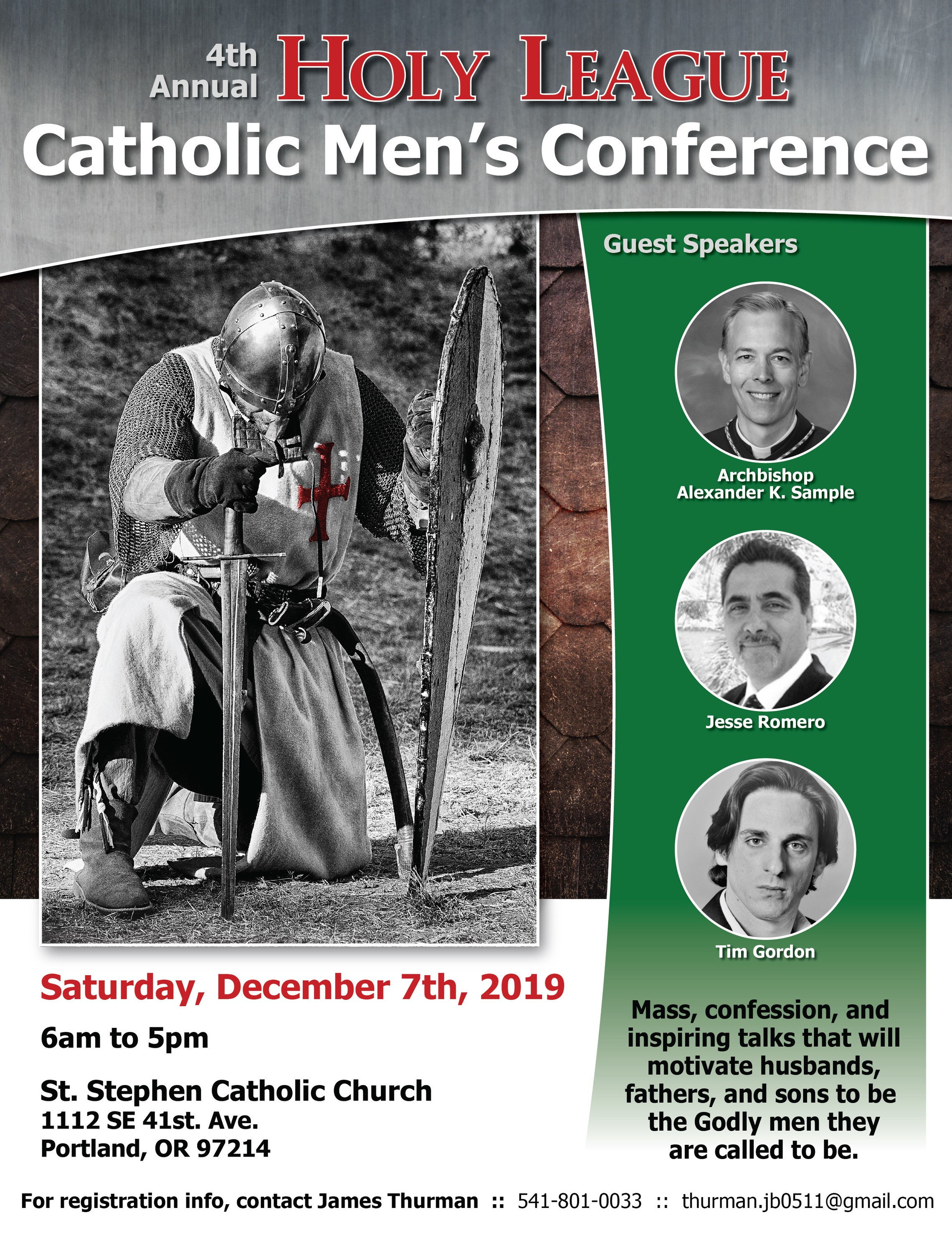 4th Annual Holy League Catholic Mens Conference
