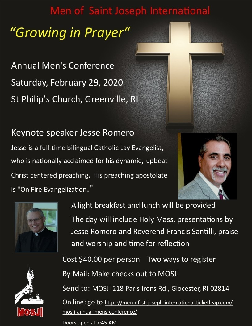 Greenville Rode Island Mens Conference Flyer February 2020