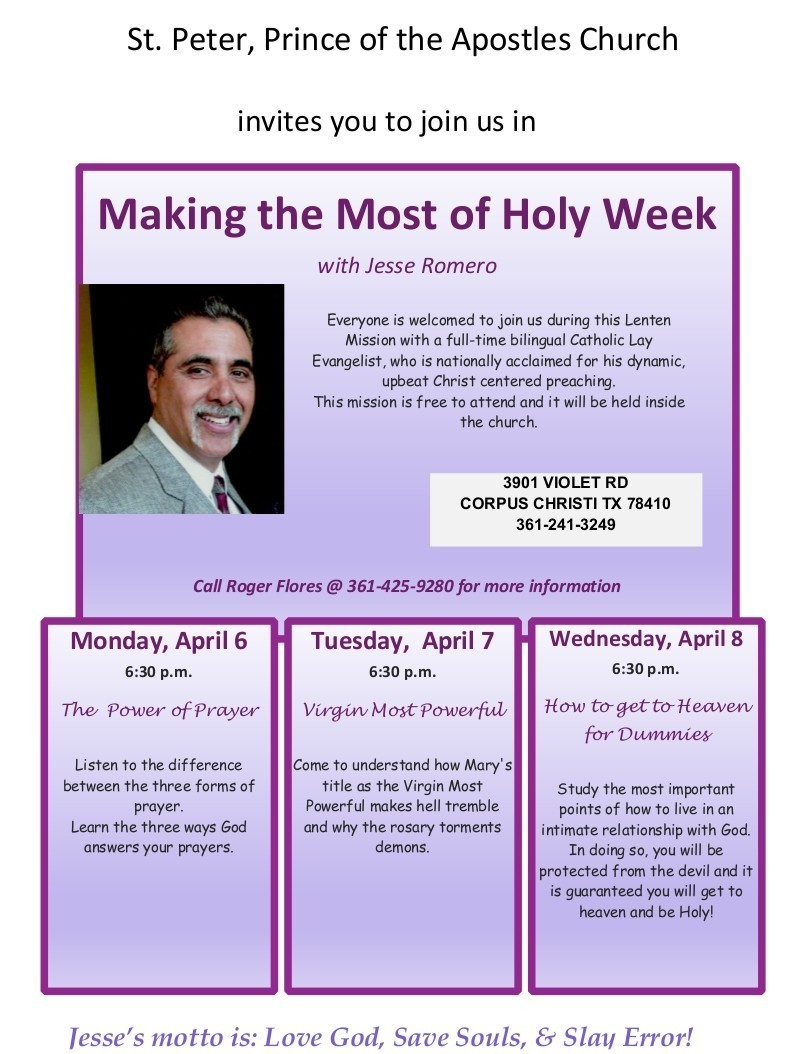Making The Most Of Holy Week With Jesse Romero Rev 1