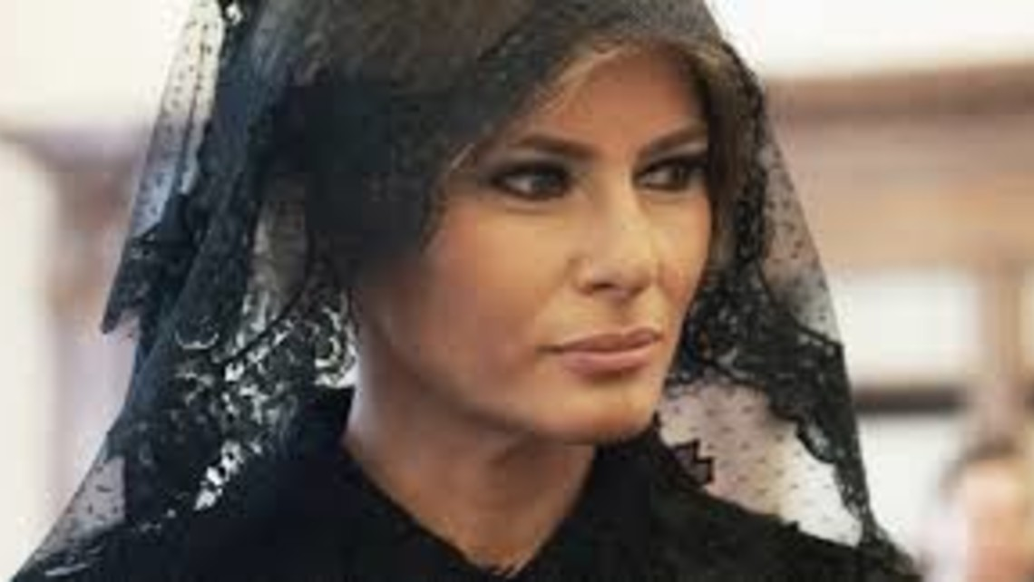 First Lady Wears A Veil