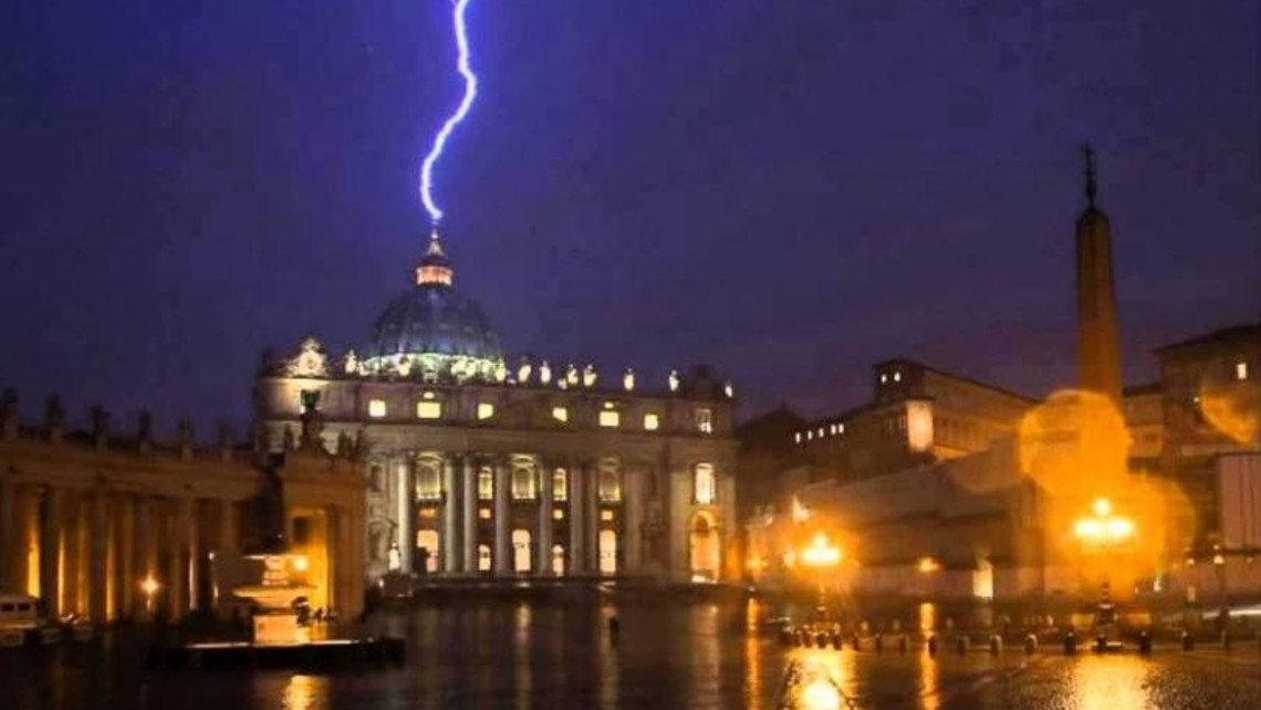 Lightening Strikes Vatican