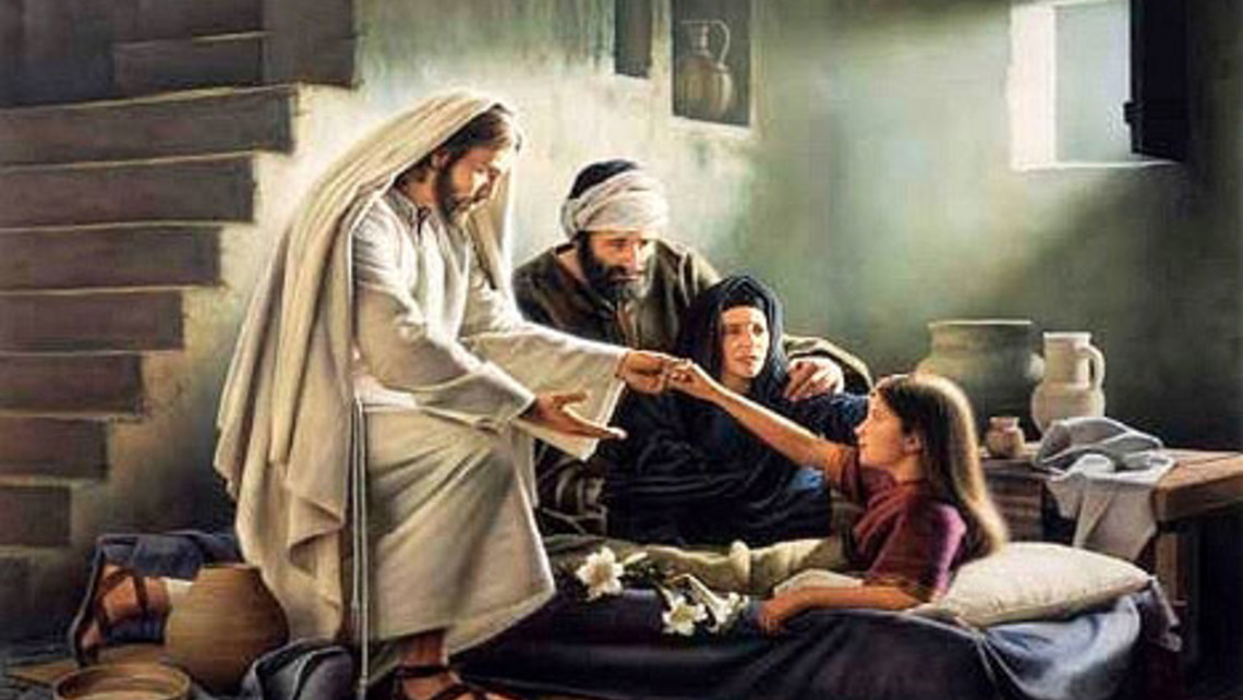 Image result for jesus raising jairus daughter