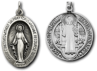 Miraculous Medal and St. Benedict Medal